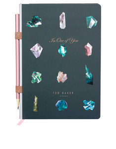 Ted Baker A5 Notebook Linear Gem With Pencil