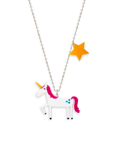 Little Moose Space Unicorn Necklace Pendant