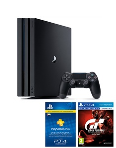 Sony PS4 Pro 1TB 7016B Jet Black + GT Sport + 3 Month Membership