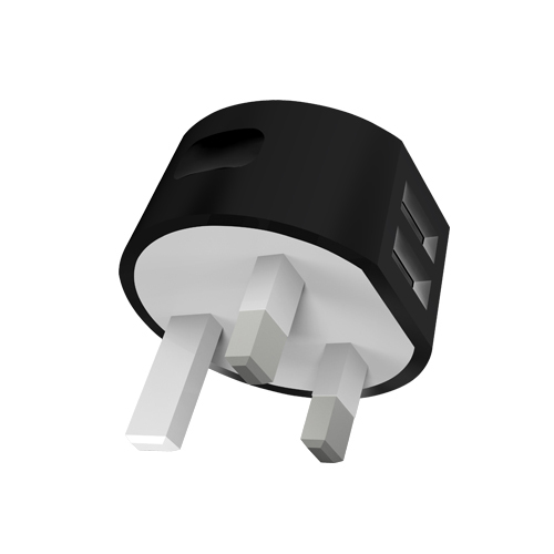 Mili Power Dolphin Black Uk Travel Charger