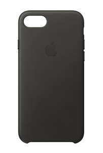 Apple Leather Case Charcoal?Grey for iPhone 8/7