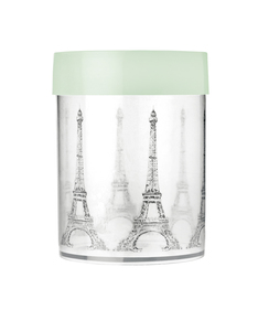 Miss Etoile Eiffel Tower Canister Light Green/W Large