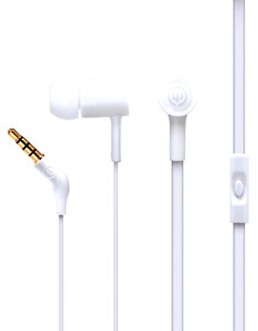 Wicked Audio Havok Bone White With Mic Earbuds
