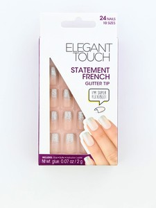 Elegant Touch Statement French Glitter Tip