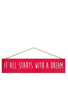 I Want It Now Dream Wooden Sign