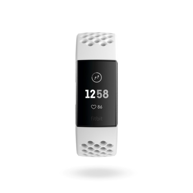 Fitbit Charge 3 Special Edition Graphite/White Silicone Activity Tracker