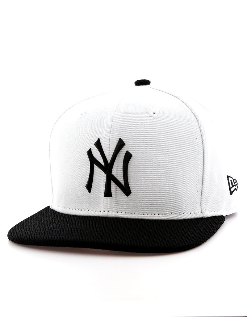 New Era Rubber Prime NY Yankees Optic White Black Cap  43bf29e6f2d