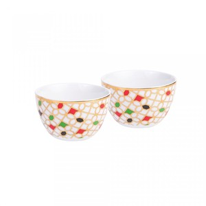 Silsal Unity Condiment Bowls with 22 Carat Gold [Set of 2]