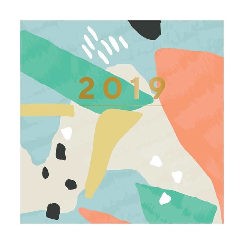 Portico Designs Patternology Square Wiro Calendar Abstract Coastal