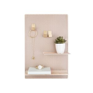 Present Time Memo Board Perky Mesh Iron Sand Brown