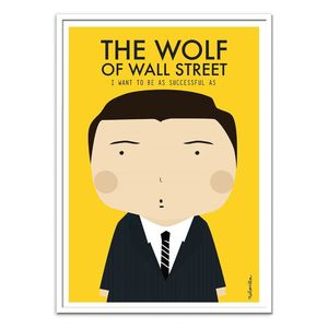 The Wolf Of Wall Street Art Poster by Ninasilla [30 x 40 cm]