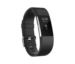 Fitbit Charge 2 Black/Silver Large Activity Tracker