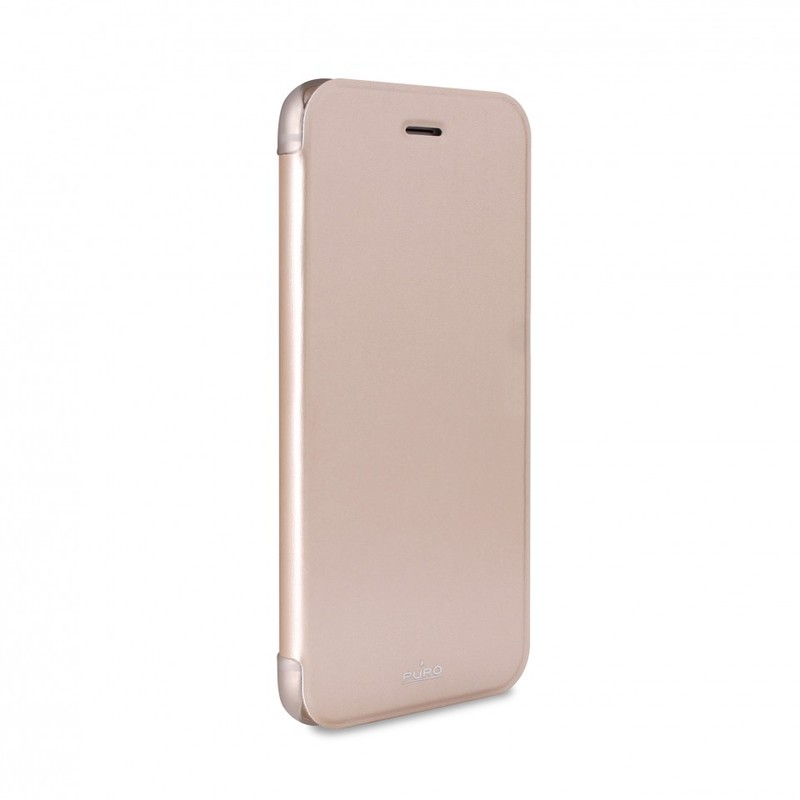 Puro Eco-Leather Cover Transparent/Gold W/Flip & Cc Slot Iphone 6
