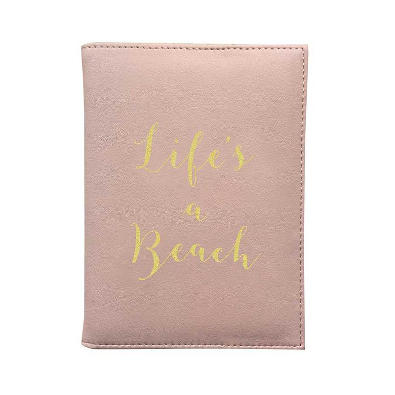 Bombay Duck Life's A Beach Soft Pink Passport Cover