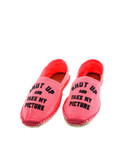 Fuxia Shut Up Pink Women'S Espadrillas Size 40