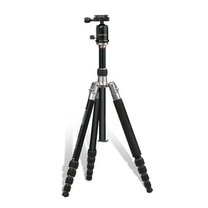 Promate Precise-160 Black Portable Travel Tripod with 3600 Pan & Tilt Head