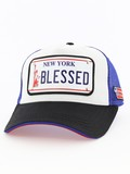 Raqam New York Plate No Blessed Model 1 Unisex Cap Black/Blue/Red
