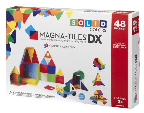 Magna Tiles Solid Colors 48 Piece Dx Building Set