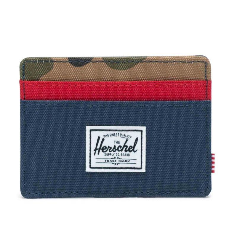 cd7a6caaa779 Herschel Charlie RFID Wallet Woodland Camo/Navy/Red