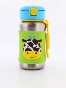 Skip Hop Zoo Stainless Steel Straw Kids Water Bottle Giraffe 350ml
