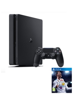 Sony PS4 Slim 1TB Jet Black + Fifa 19