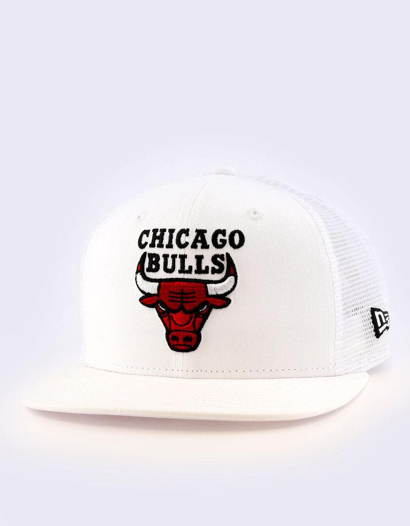 New Era Mesh Chicago Bulls Optic White Cap  3e29ab87b81