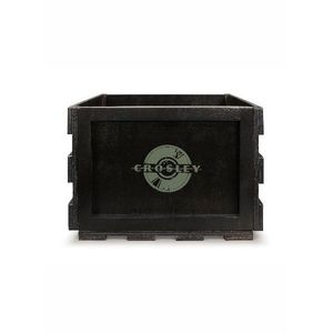 Crosley Record Storage Crate Black Holds 40-75 Albums]
