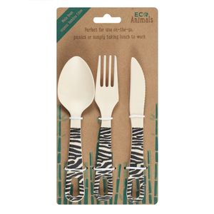 Something Different Ziggy Zebra Cutlery Set