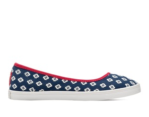 Bucketfeet The Republic Navy/Red Low Top Women's Canvas Slip-Ons