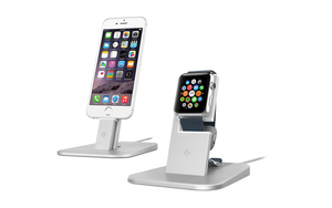 Twelve South Hirise Stand Silver Apple Watch