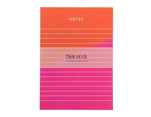 Ohh Deer Colour Blocking A6 Notepad