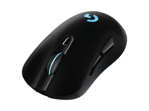 Logitech G703 LIGHTSPEED Wireless Gaming Mouse with HERO 16K Sensor/LIGHTSYNC RGB/POWERPLAY Compatible/Lightweight 95g+10g Optional/100-16000 DPI/Rubber Side Grips