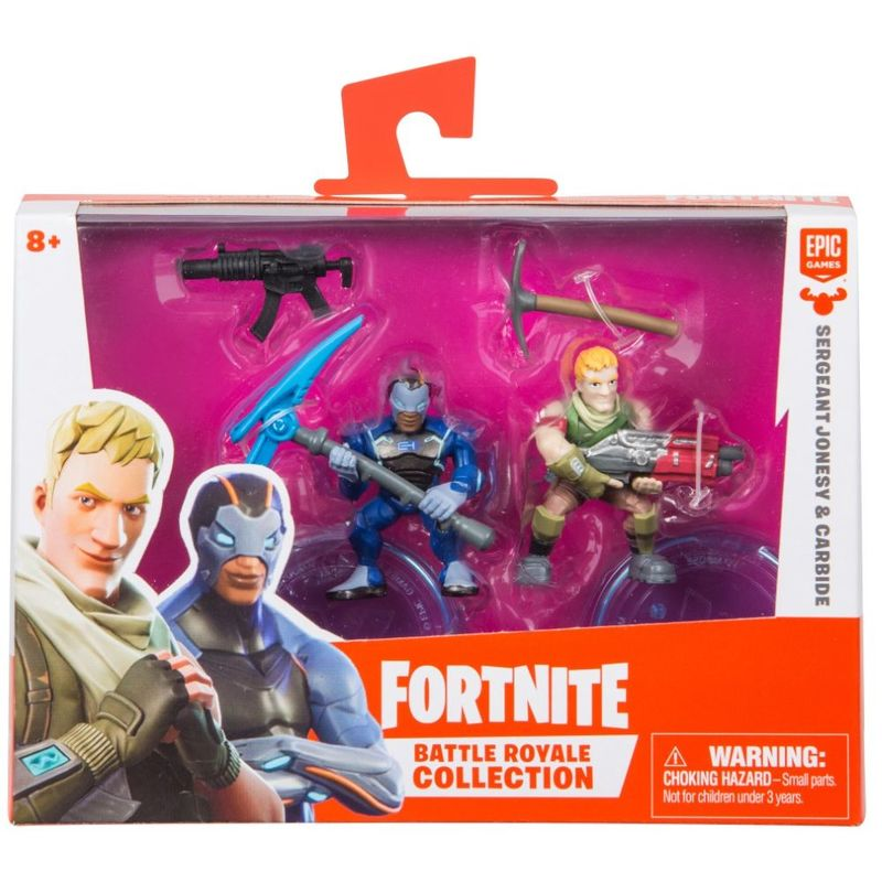 Fortnite Battle Royale Collection S1 Sgt Jonesey Carbide 2 Inch Duo Pack Figures Figures Playsets Toys Virgin Megastore