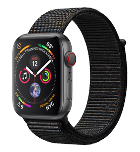 Apple Watch Series 4 GPS +Cellular 44mm Space Grey Aluminium Case with Black Sport Loop