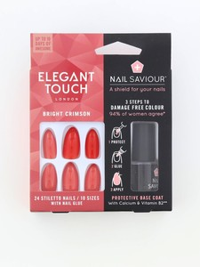 Elegant Touch Nail Saviour Bright Crimson