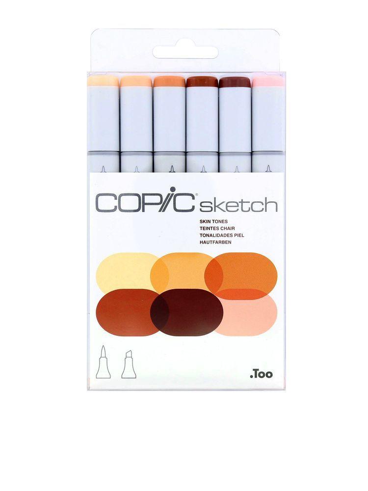 Copic Sketch 6pcs Set Skin Tones Set Of 6