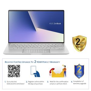 Asus ZenBook UX433FN 8th Gen Intel Core i7-8565U 1.8GHz/16GB/512GB SSD/NVIDIA GeForce MX150 2GB/14 Inch FHD/Windows