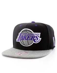 Mitchell & Ness Los Angeles Lakers Black/Gray Heather Cap