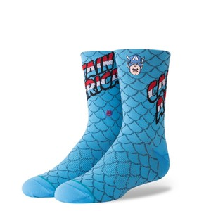 Stance Marvel Captain America Youth Boys Socks Blue