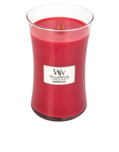 Woodwick Raspberry Yuzu Red Large Candle