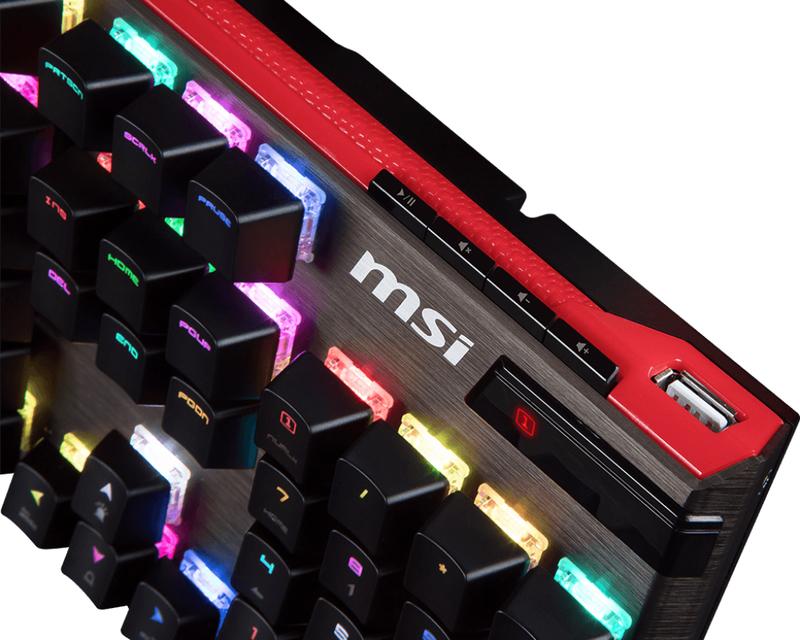 MSI Vigor GK80 CR Black Gaming Keyboard US