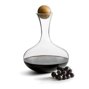 Sagaform Oak Wine Carafe W/Oak Stopper