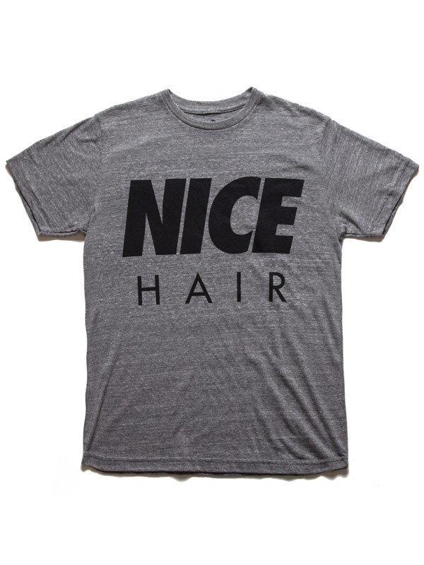 Alex & Chloe Nice Hair Heather Grey/Black Tshirt Xl