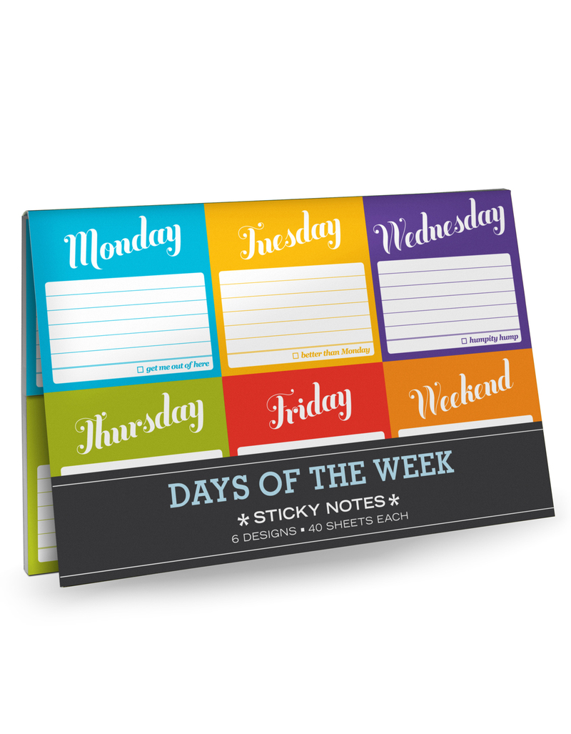 Sticky Packet Days Of The Wk