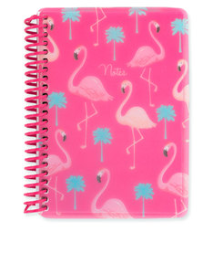 Go Stationery Flamingo A6 Polyprop Notebook