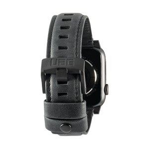 UAG 44/42mm Leather Strap Black for Apple Watch