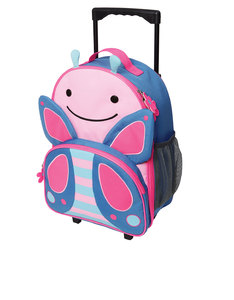 Skip Hop Zoo Kids Rolling Luggage Butterfly Kids