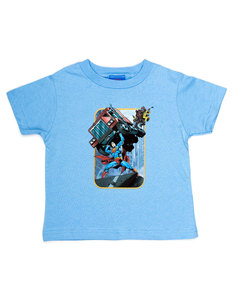 Superman Pick Up My Truck Carolina Blue Boys T-Shirt