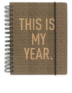 Go Stationery Kraft Typo This Is My Year A5 2017/18 Planner
