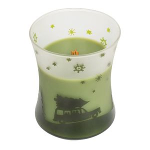 Woodwick Scenic Hourglass Candle with Lid Evergreen